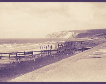 "Vintage Fine Art Print, Seaside Vintage Photograph, Vintage Promenade Wall Art, ""Along the Prom, Prom, Prom"""