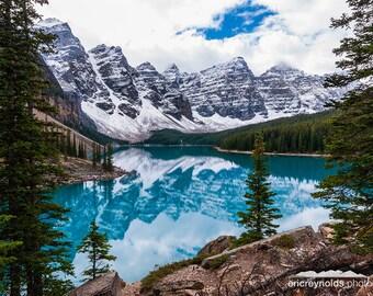 Relection of Moraine Lake - Banff National Park - Alberta Canada