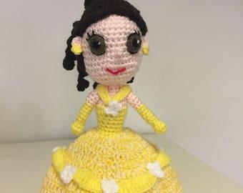 Belle inspired doll