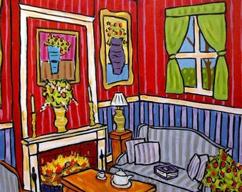 The Fireplace Art Print Interior Design 11x14