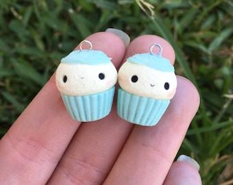 Pastel Mint Cupcake Charm