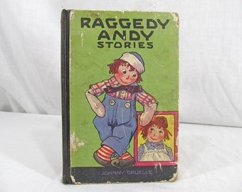 Raggedy Andy Stories 1920 First Edition Children's Book Hardcover Raggedy Ann Johnny Gruelle Illustrated M.A. Donohue