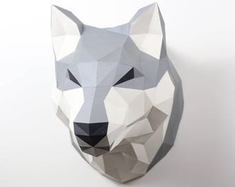 Pre-cut and Pre-scored Wolf or Husky Kit - Low Poly