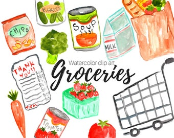 salad clipart food clipart brunch clipart watercolor rh etsy com branch clipart brunch clipart black and white