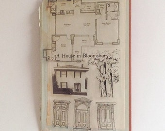 Altered Book Cover - A House In Bloomsbury - 3-D Transparency Collage