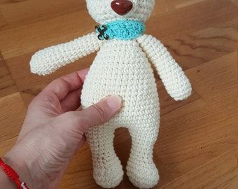 Crochet little white bear