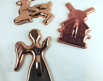 Vintage Baking Copper Cookie Cutters