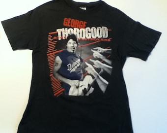 Vintage GEORGE THOROGOOD & The Destroyers Vintage Tee Shirt - Born To Be Bad Album Promo Shirt Size Large