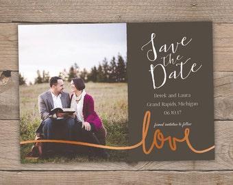 20pk Foil Pressed Save the Date - Love Script