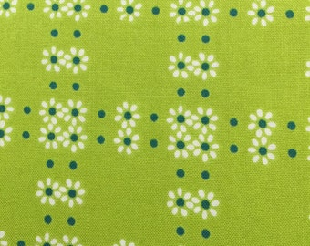 Tiny flowers on Lime Green from Everything but the Kitchen Sink mimosa collection for Windham fabrics