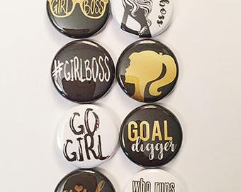 Girl Boss Black and Gold Flair