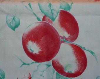 Red Retro Fruit  Vintage Tablecloths/runners