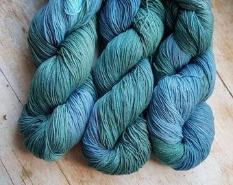 Patronus on sock weight merino and nylon yarn
