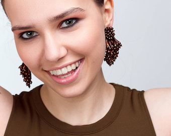 Eliza earrings clip-on - BRONZE