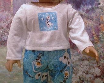 Olaf Pajamas for American Girl