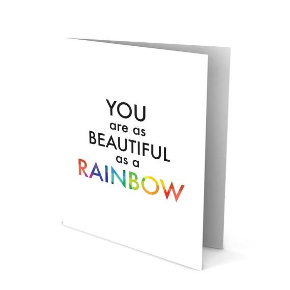 Rainbow Beauty Greeting Card!