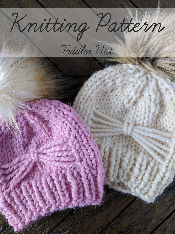 Knitting Pattern, Toddler Knit Hat Pattern, Child Winter Hat ...