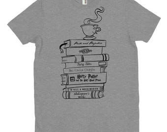 Book Stack - Book Lovers - Literature T-Shirt