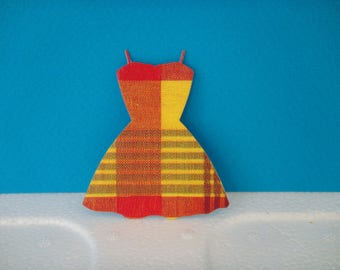 Cutout dress madras for scrapbooking and card
