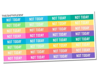 Not Today Headers Sheet, Functional Stickers