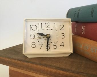 1970's Clock, 1970's Alarm Clock, Vintage Westclox, Westclox Alarm Clock, Retro Alarm Clock, Westclox Personal Clock, 1970s Decor,