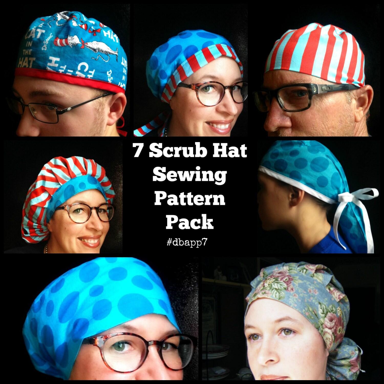 Scrub hat sewing pattern tutorial diy 7 surgical scrub cap zoom jeuxipadfo Images