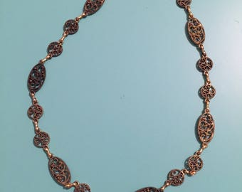 Gold Necklace / Vintage Necklace / Boho Necklace / Statement Necklace / Art Deco Necklace / Jewelry Set / Handmade Necklace