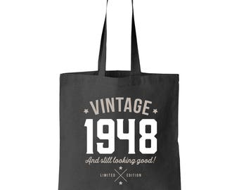 70th Birthday, 70th Birthday Idea, Great 70th Birthday Present, 70th Birthday Gift 1948 Birthday, 70th Birthday Bag, Tote, Shopping Bag