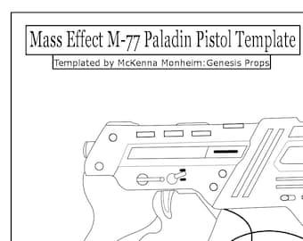 Mass Effect M-77 Paladin Pistol Template