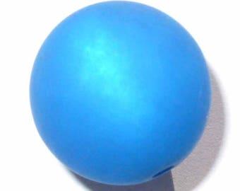 4 polaris capri blue 4 beads 14mm beads