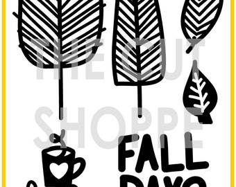 The Free Falling cut file includes 6 fall themed icons, for your scrapbooking and papercrafting projects.