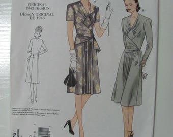 Vintage Vogue V2876 1943 Reprint Sewing Pattern Size 12-14-16 2005