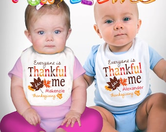 Everyone is Thankful for me - Thanksgiving - Boys / Girls - Personalized with Name & Year