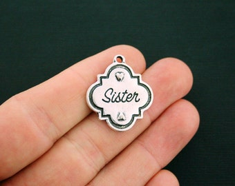 6 Sister Charms Antique Silver Tone - SC6109
