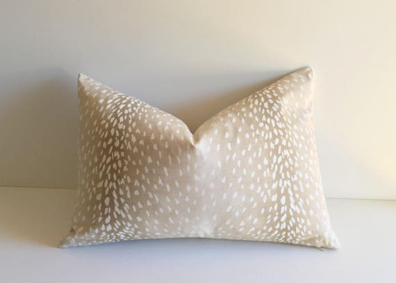 Ombr 233 Gradient Fawn Print Pillow Cover Animal Print Linen