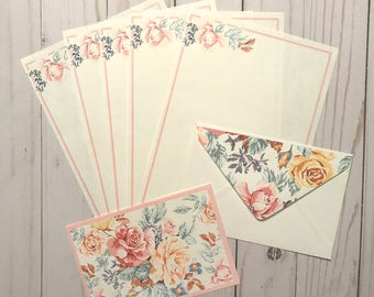 Pastel Floral Stationery Set