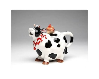 Country Cow Teapot