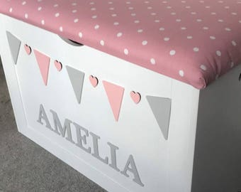 Large Toy Box, large personalised toy box, wooden toy box, XL toy chest,