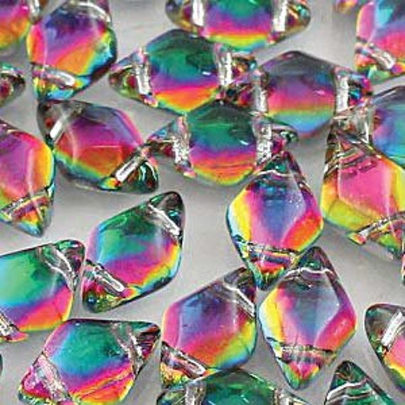 Backlit Spectrum 8 x 5mm GemDuo bead Approx 8g