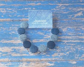 Shades of Denim Bezel Bracelet