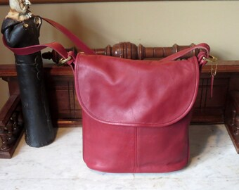 Etsy BDay Sale Coach Whitney Bag In Red Leather With Brass Hardware- Made In U.S.A.- Very Good to Excellent Used Condition