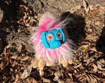 Fantasy Graceling Doll Plush-Brown, Turquoise, and Pink-Lion, Eagle, Owl, Dog, Puppy