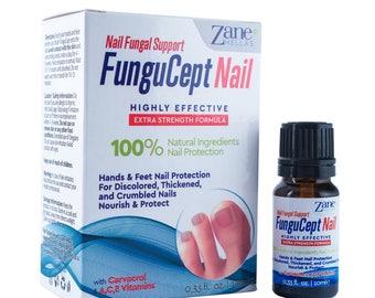 Zane Hellas FunguCept Nail Fungal Support. Natural Nail Protection.Toenail and Fingernail Restorer.0.33 oz.–10 ml. with Oil of Oregano.