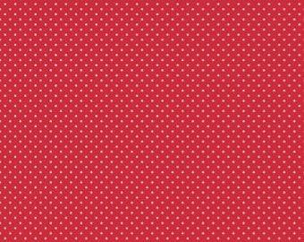 White swiss dots on red basics by Riley Blake - C670-80 blender