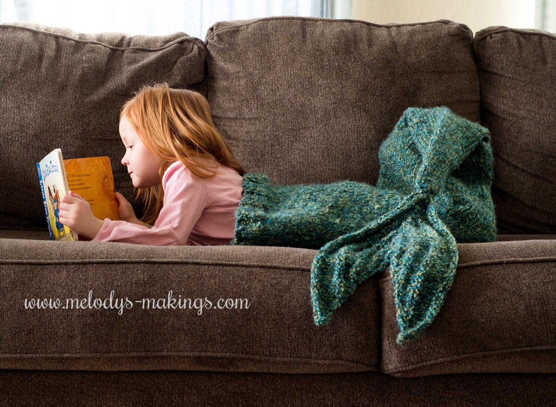 Child Mermaid Tail Blanket Knitting Pattern Mermaid Tail