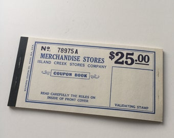 Vintage Ice coupon book