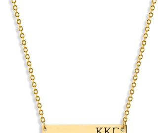 Kappa Kappa Gamma Sorority Bar Necklace / Kappa Kappa Gamma Necklace / Sorority Necklace / Sorority Gift / Big Little Gift /Sorority Jewelry