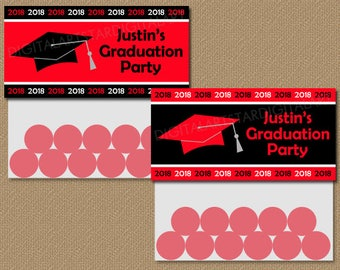 Personalized High School Graduation Treat Bag Topper, High School Graduation Party Ideas, Class of 2018 College Graduation Party Bags G1