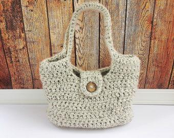 Chunky Crochet Handbag, Purse, Tote, Diaper Bag