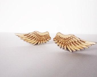 Wings Cufflinks (Lasercut Cufflinks) by Vectorcloud